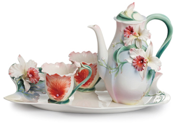 Franz Collection has released 4 new beautifully made collections to their already well-received line of functional FDA approved fine porcelain tableware ...  sc 1 st  Distinctive-Decor.com Blog - Typepad & New Franz Collections-- Prima Ballerina Columbine Wildflowers Tea ...