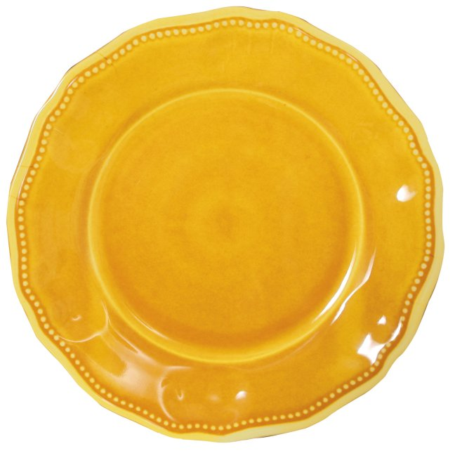 107PSY dinner plate yellow