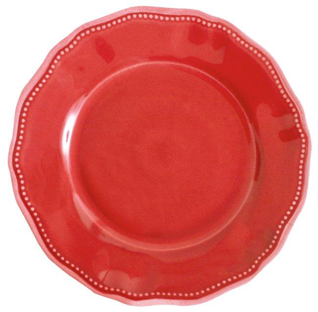 107PSR dinner plate red